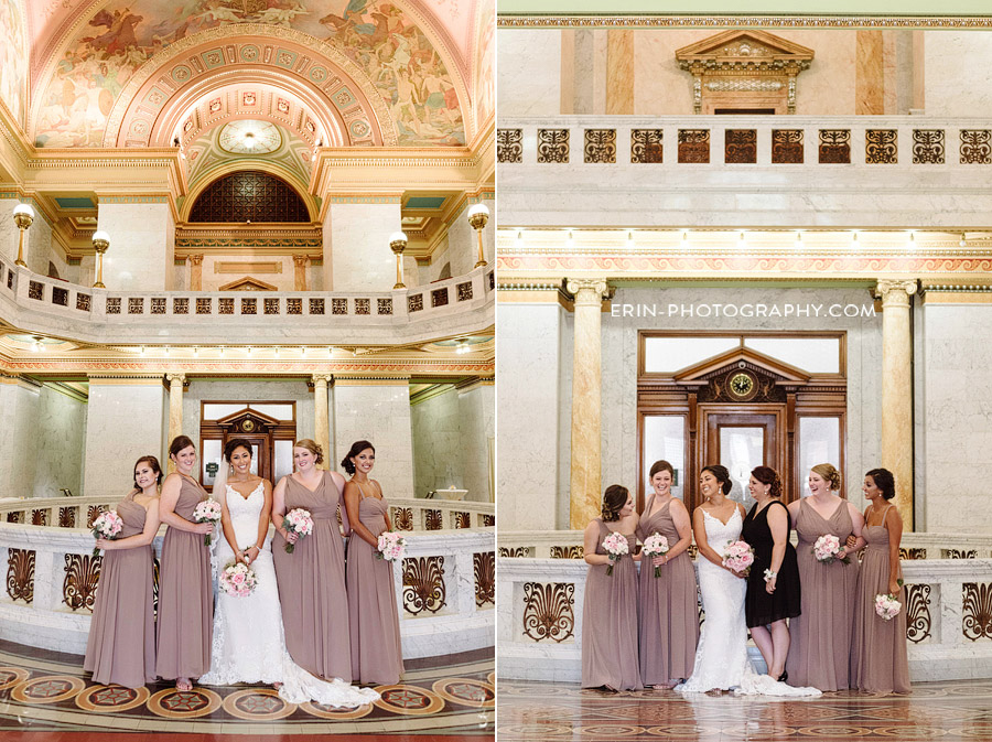 Elisa + Kevin's Allen County Courthouse Wedding | Erin